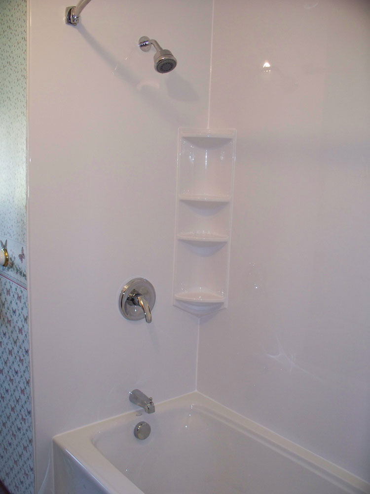 Subway Tile Bathroom Acrylic Bathtub Liner & Enclosures | Near Cleveland And