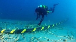 underwater sea cable