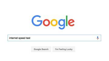 Google search internet speed test