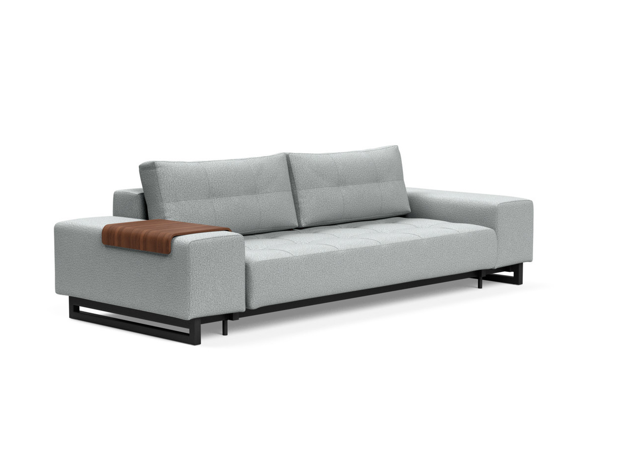 Grand Deluxe Excess Sofa Bed Queen Size Melange Light Gray By Innovation