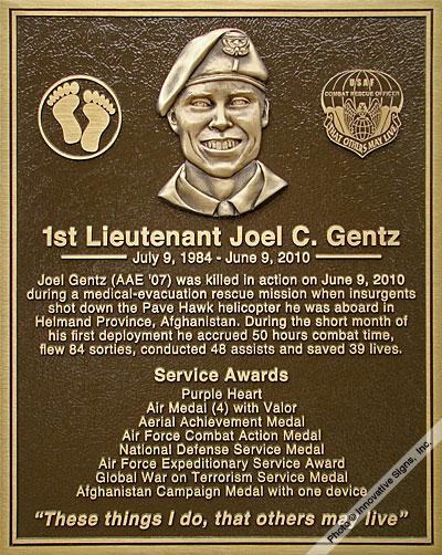 Military Plaques - Veteran Plaques - Dedication Plaques - Bronze