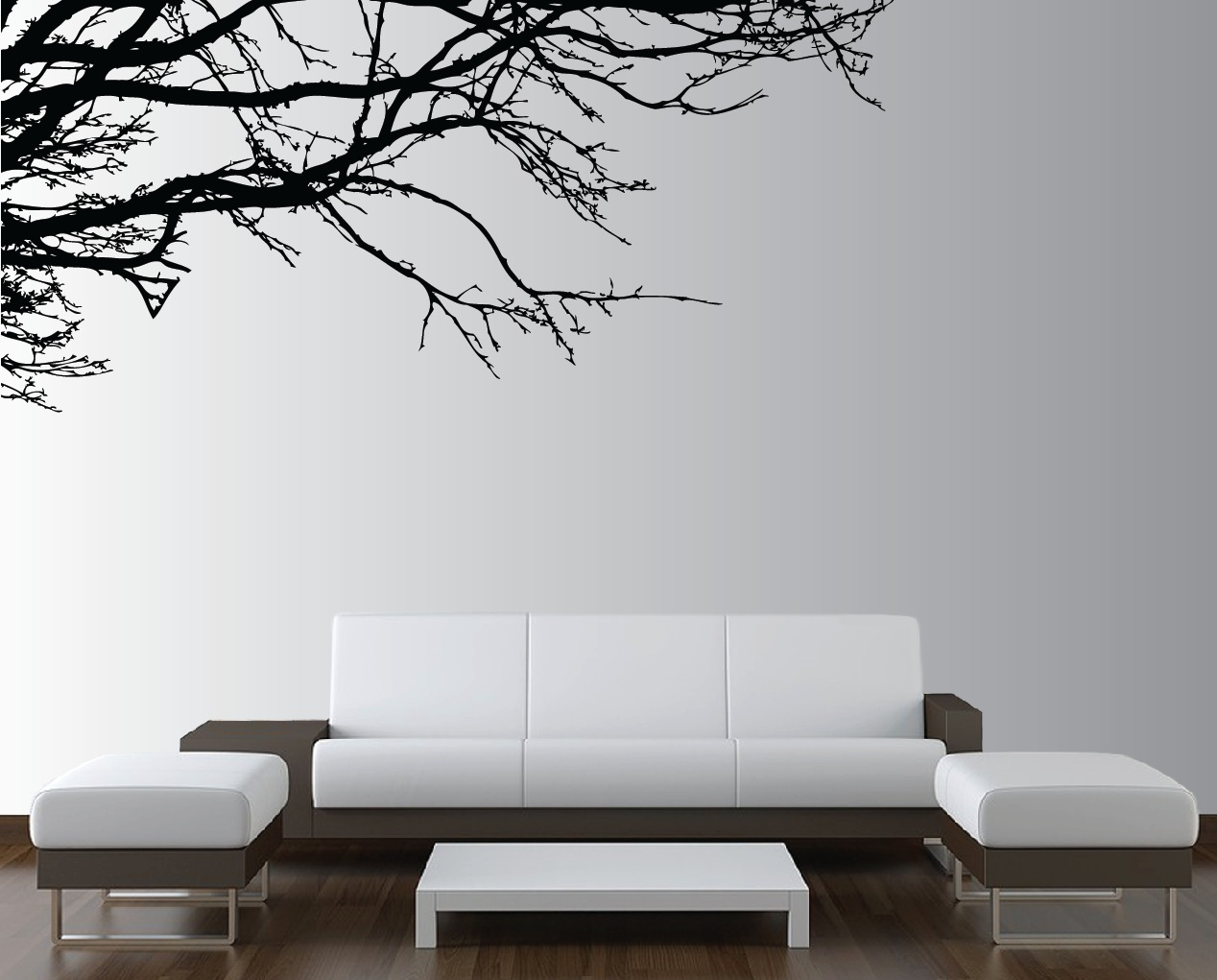 Wall Art Living Room Large Wall Tree Nursery Decal Oak Branches 1130