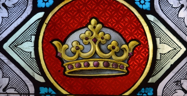 Crown - stained glass window