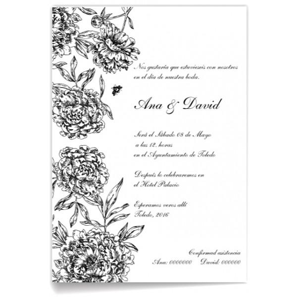 Tarjetas de invitación boda para editar - Imagui