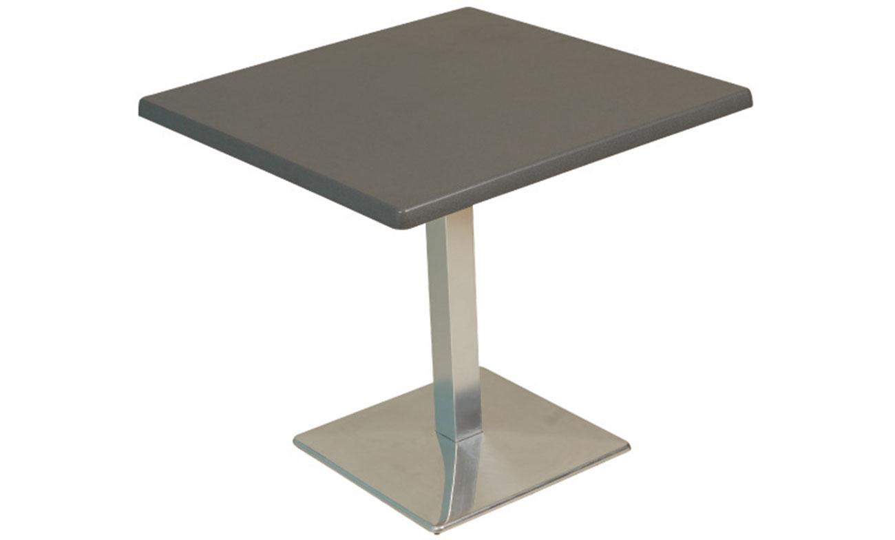 Meubles Exterieur Aluminium | Table Stratifiée Pied En Aluminium ...