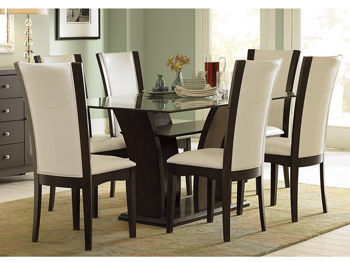 glass top dining table sets with 6 chairs