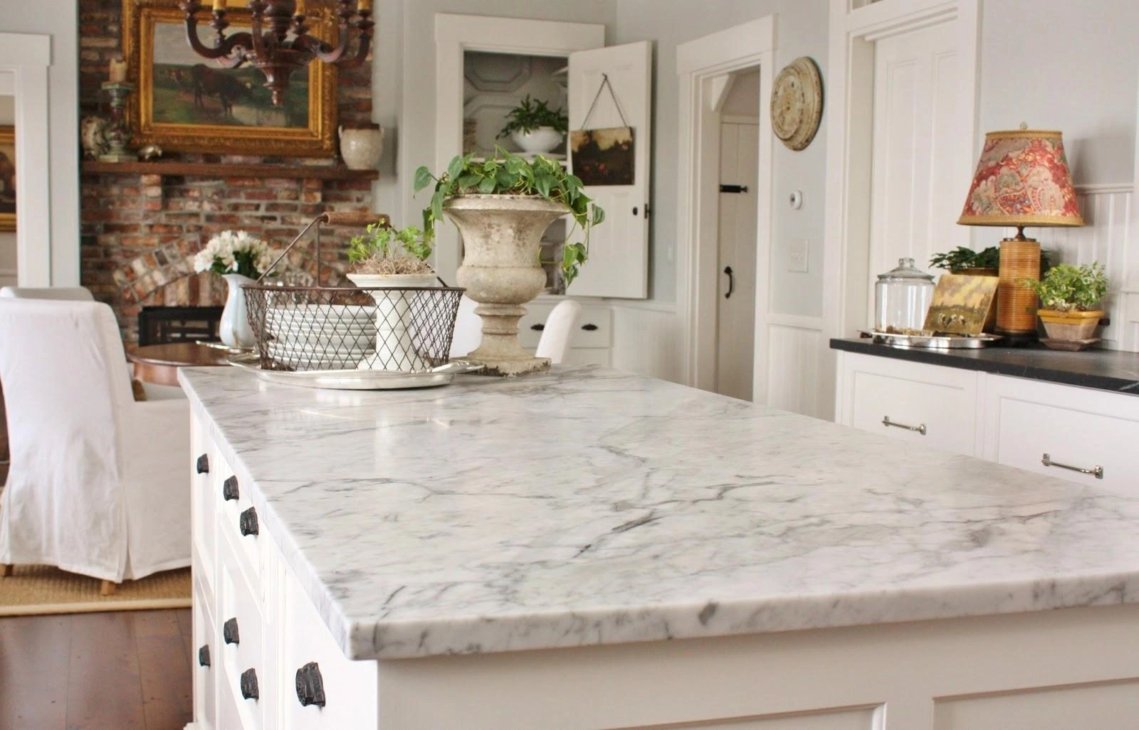 White Carrera Marble Kitchen Countertops Pros And Cons Of Carrara Marble Countertops Inovastone
