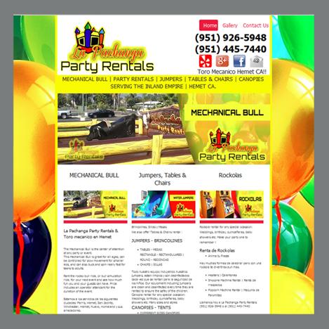 Perris Print Shop, Printing Web Developer, Lalaland Printing, Inc - party rental flyer