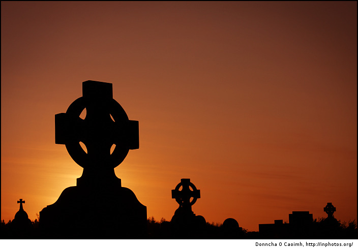 Tullagh Cemetery at Sunset