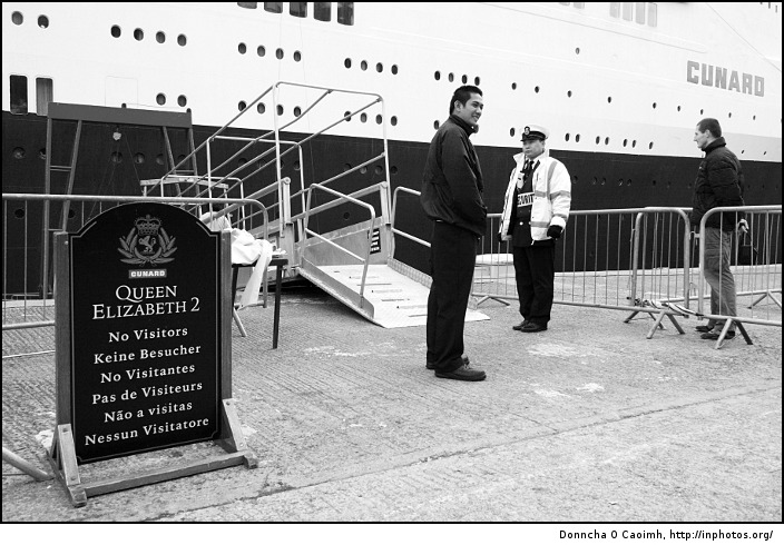 No visitors on the QE2