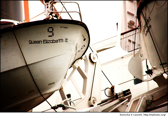 Lifeboat 9 on the QE2