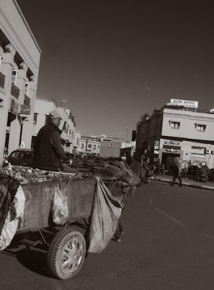 Traffic in Marrakesh