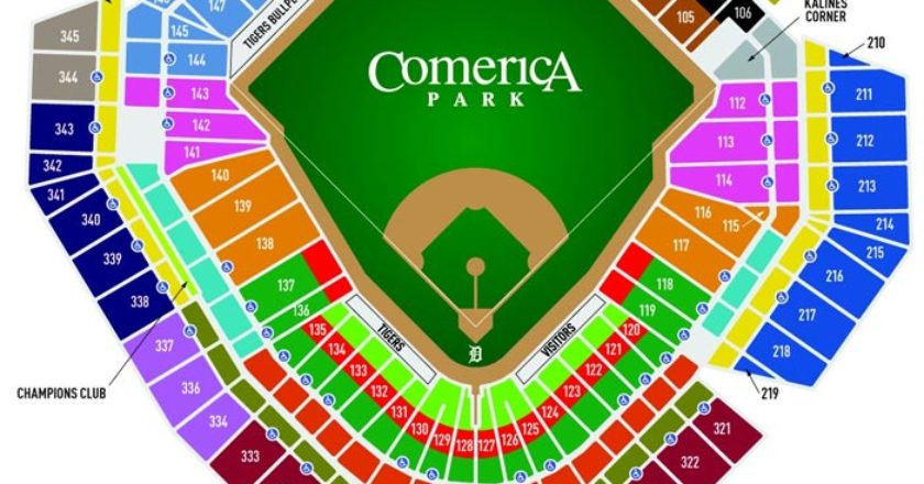 Detroit Tigers Seating Chart Two Birds Home