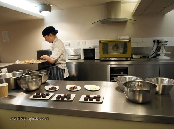 Lucy at work at William Curley