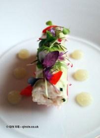 Crab roll at The Elephant Restaurant, Torquay