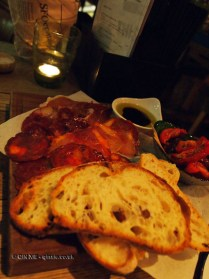 Antipasto board at The Refinery Bar