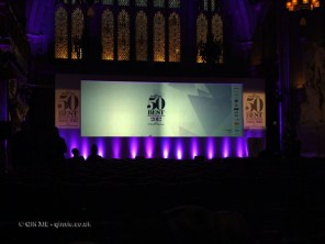Empty hall at the World's 50 Best Restaurants 2012