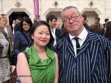 Qin Xie with Fergus Henderson at the World's 50 Best Restaurants 2012