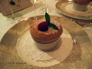 Warm raspberry soufflé, The Waterside Inn, Bray