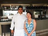Qin Xie and Mauro Colagreco at Mirazur, Menton