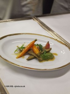Vegetable sides, 25th Anniversary Celebration Menu at Alain Ducasse's Le Louis XV in Monte Carlo, Monaco