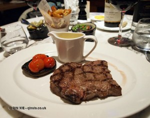 Steak, Gillray's Steakhouse, Marriott County Hall