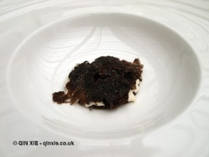 Veal gel, dried porcini, almonds and black truffle, Ristorante Reale, Abruzzo