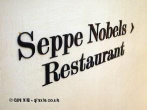 Seppe Nobels Restaurant Sign, Graanmarkt 13, Antwerp, Belgium