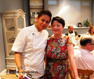 Qin Xie with Monica Galetti, Monica Galetti Experience, Cactus Kitchen