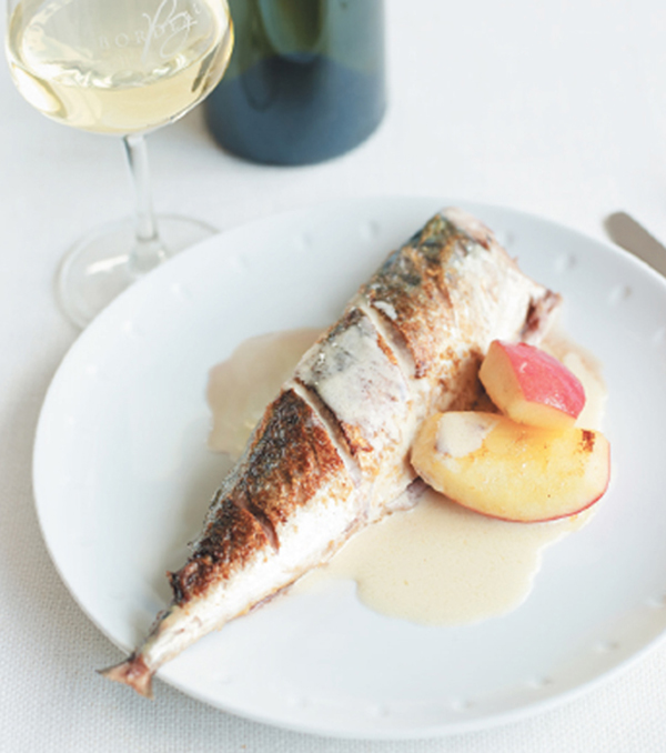 Normandy-style roast mackerel recipe