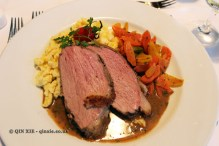 Veal, carrots and spatzle at Winzerhof Gierer, Food in Baden-Württemberg