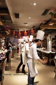 Chefs dancing, 57 Xiang, Chengdu, China