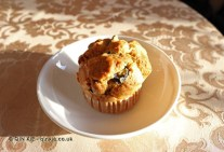 Freshly baked olive muffin, Christmas 2014, Chez Xie