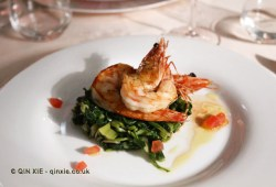 Grilled prawns with chard, Palmaria, Portovenere
