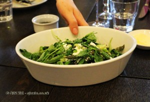 Asparagus and curd salad at The King's Arms, Dorset