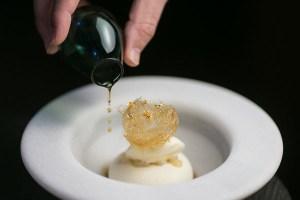 HKK's Nashi pear and Champagne dessert