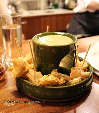 Innis and Gunn Scotch Whisky Porter cheese fondue, Marks Kitchen Library at The Tramshed