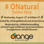 Orange Natural Twitter Party Orange Naturals homeopathics, tinctures and ND shakes