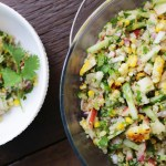 Grilled Corn, Nectarine & Quinoa Salad, eggfree potluck, vegetarian potluck dish, Vegan lunch, Vegan dinner, Vegan