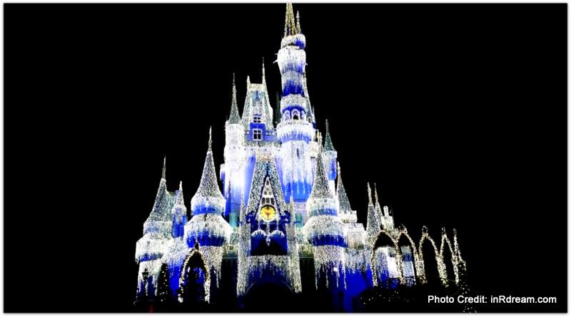 Cinderella's Castle, walt Disney World Castle, Night light on Cinderella's castle.