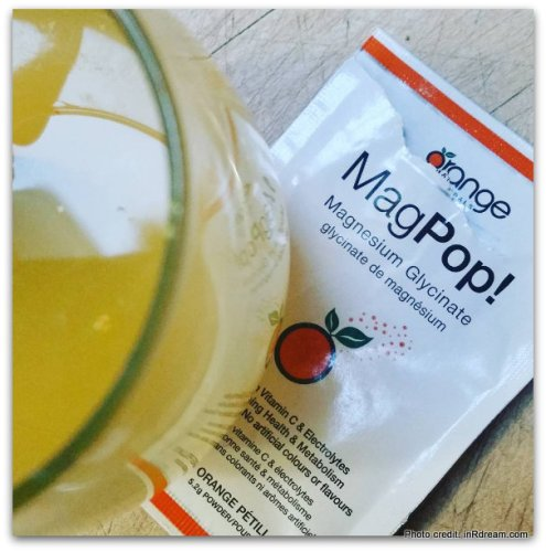 MagPop, Magnesium drink, Healthy After workout drink, Orange Naturals