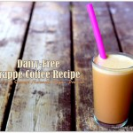 Dairy-Free Frappé Coffee + 27g of Vegan Protein , Vegan Shake, Homemade Iced coffee recipe, Homemade Frappe Coffee Recipe, Orange Naturals protein powder, Orange Naturals Mom