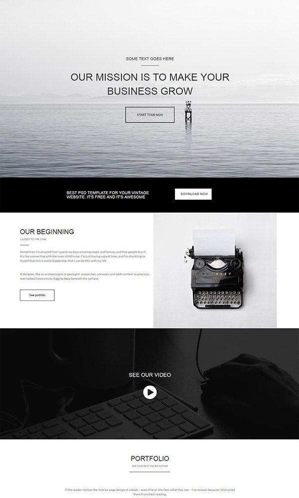 80+ Free HTML5 Website Templates - bootstrap one page template
