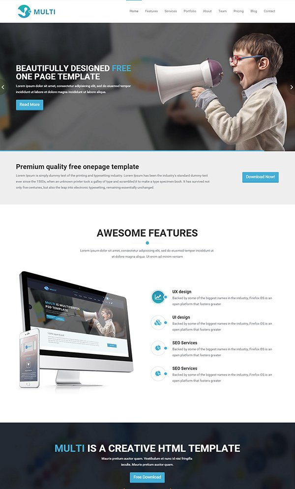 26 Best Free Bootstrap HTML5 Website Templates - February 2015 Edition