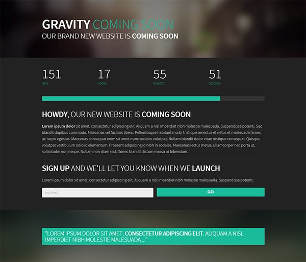21 Free Coming Soon / Under Construction HTML Web Templates