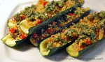 zucchini with quinoa and brazil nut pesto