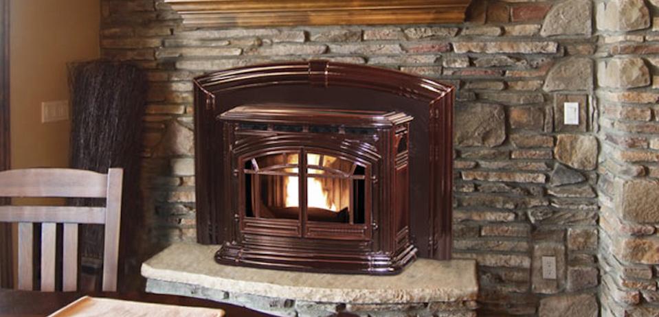 Enviro M55 Cast Iron Pellet Fireplace Insert Inseason