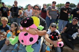 Since 1996, participants in the Teddy Bear Motorcycle Run have distributed tens of thousands of stuffed animals to the young patients at Akron Children's Hospital.
