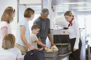 family-at-airport-security