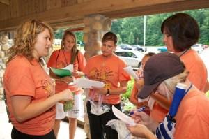 Lisa Broerman at diabetes camp with fellow counselors.